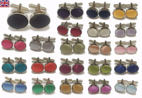 MEN'S CUFFLINKS STEEL MENS WEDDING CUFF LINKS BUSINESS GROOM MANY COLOURS